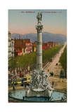 La Fontaine Cantini in Marseille. Built by Sculptor Andre Allar. Postcard Sent in 1913 Giclee Print by  French Photographer