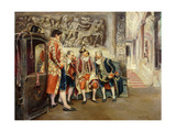 Waiting for His Eminence, 1902 Giclee Print by Jose Gallegos Arnosa
