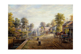 Scene Along the Delaware and Hudson Canal, 1907 Giclee Print by Edward Lamson Henry