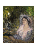 Woman in the Garden; Femme Dans Un Jardin, 1916 Giclee Print by Edmond-francois Aman-jean