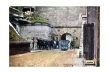 French Soldiers at the Entrance of the Casemates, Verdun, September 1916 Giclee Print by Jules Gervais-Courtellemont