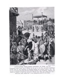 Constantine Proclaimed Emperor at York, 306 A.D., Illustration from 'Hutchinson's History of the… Giclée-Druck von Simon Harmon Vedder