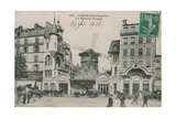 Postcard of the Moulin Rouge, Paris, Sent in 1913 Giclee Print by  French Photographer