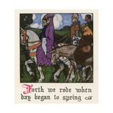 Chaucer: The Canterbury Tales Giclee Print by Walter Appleton Clark