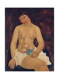 Nude with Tulips, 1927 Giclee Print by Christopher Wood