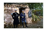A French Priest and a Chaplain at the Front During the Battle of Verdun, September 1916 Giclee Print by Jules Gervais-Courtellemont