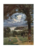 The Thames at Richmond from the Terrace Giclee Print by Francis S. Walker