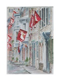 Jim Thorpe, Pa., Race St. 2011 Giclee Print by Anthony Butera