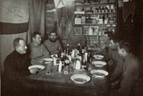 The Men, Midwinter's Day Dinner, British Antarctic Expedition, Cape Evans, 22nd June 1912 Photographic Print by Edward W. Nelson