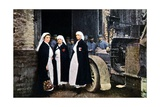Three Women Wearing the Red Cross and the French Ambulance Staff with a Veh Giclee Print by Jules Gervais-Courtellemont