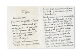 Letter to Andre Breton, 1918 Giclee Print by Guillaume Apollinaire