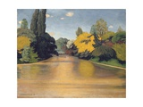 Bois de Boulogne, Las St. James, 1918 Giclee Print by Felix Edouard Vallotton