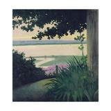 Honfleur and the Baie de La Seine, 1910 Giclée-Druck von Felix Edouard Vallotton