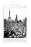 'Berlin Reduced to Protesting', Crowds Gather Outside the Reichstag to Protest Against the… Giclee Print by  German photographer