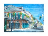 New Orleans, Bourbon St., 2008 Giclee Print by Anthony Butera