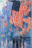 Childe Hassam Street in the Rain Print by Childe Hassam