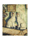 Staffordshire Dogs, c. 1928 Gicléetryck av Dora Carrington