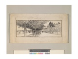 The Thames Embankment, c.1910 Giclee Print by Thomas Raffles Davison