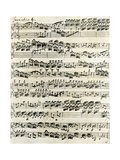 Original Manuscript of Bach's Eighth Invention Giclee Print