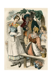 German Middle-Class Family Having Lunch in Munich, 1822 Photographic Print