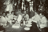 The Officers, Midwinter's Day Dinner, British Antarctic Expedition, Cape Evans, 22nd June 1912 Photographic Print by Edward W. Nelson