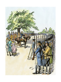 George Washington Taking Command of the American Army Giclee Print