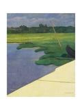 Quai de Berville, 1918 Giclee Print by Felix Edouard Vallotton