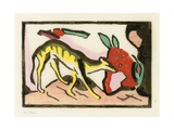 Mythical Animal (Landkheit 826), 1912 Giclee Print by Franz Marc