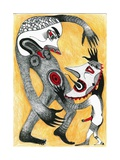 Fight, 2012 Giclee Print by Sabina Nedelcheva-Williams