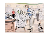 At the Barber and Reading 'Le Jockey', c.1905 Giclee Print by E. Thelem