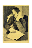 Man Writing: Study for Paludes; Homme Ecrivant: Etude Pour Paludes, c.1920 Giclee Print by Roger de La Fresnaye