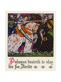 Chaucer: The Knight's Tale Giclee Print by Walter Appleton Clark