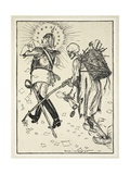 The Ragpicker (Le Chiffonier), Illustration from the Kaiser's Garland by Edmund J. Sullivan, Pub.… Giclee Print by Edmund Joseph Sullivan