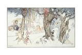 Winter Frolic, 1924 Giclee Print by Arthur Rackham