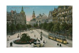 Frankfurt, Rossmarkt. Postcard Sent in 1913 Giclee Print by  German photographer