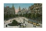 Frankfurt, Rossmarkt. Postcard Sent in 1913 Giclee Print by  German photographer