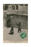 The Bear Pit with Young Bears at the Zoo in Bern. Postcard Sent in 1913 Giclee Print by  Swiss photographer