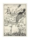 Dancing Partners, Illustration from the Kaiser's Garland by Edmund J. Sullivan, Pub. 1916 Giclee Print by Edmund Joseph Sullivan
