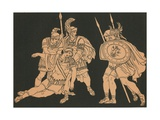 Aeneas and the Body of Lausus Giclee Print by Bartolomeo Pinelli