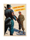 Loose Talk Can Cause This, 1942 Giclee Print by Adolph Treidler