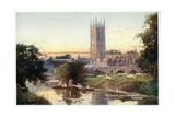 Magdalen Tower and Bridge Gicléedruk van William Matthison