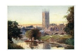 Magdalen Tower and Bridge Giclee Print by William Matthison
