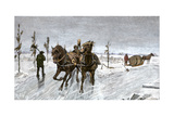 Sleigh Road on the Ice of the St. Lawrence River, Canada, 1880s Photographic Print