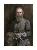 General J.E.B. Stuart, Confederate Cavalry Commander Impression giclée