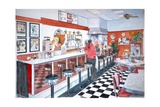 Interior, Soda Fountain, NYC, 2012 Giclee Print by Anthony Butera