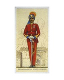 Commandant of the Infantry of the Dhrangadhra State Forces, Indian Princely States, 1938 Giclee Print