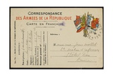 Postcard to Jean Mollet, 1915 Giclee Print by Guillaume Apollinaire