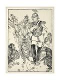 Marriage de Convenience, Illustration from the Kaiser's Garland by Edmund J. Sullivan, Pub. 1916 Giclee Print by Edmund Joseph Sullivan