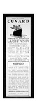 Sailing Notice and German Warning, New York Herald, 1st May 1915 Giclee Print by  American School