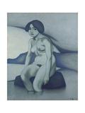 Green Nude, 1916 Giclee Print by Felix Edouard Vallotton